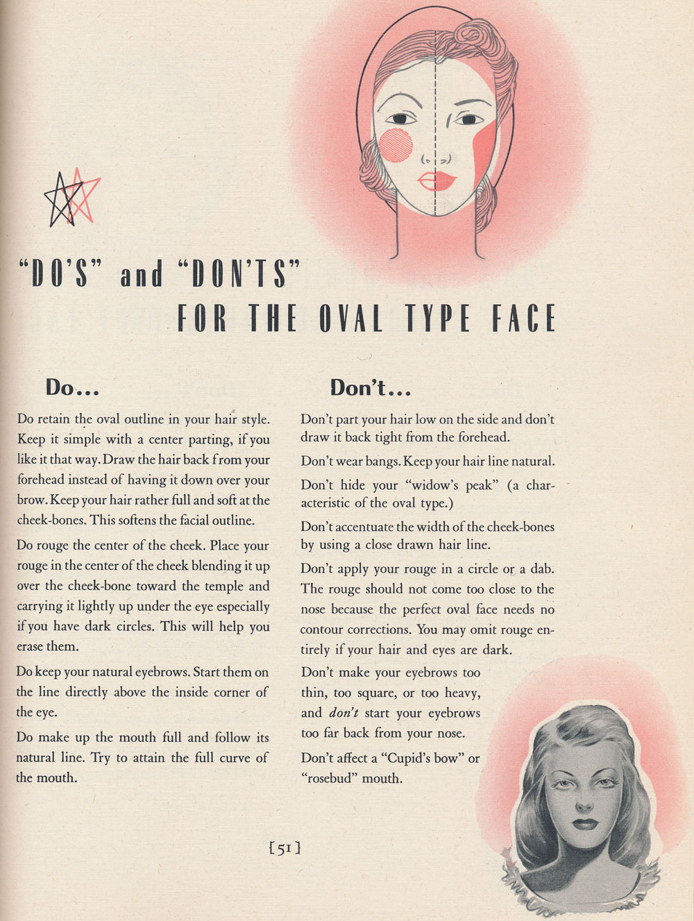 Vintage Beauty Face Shapes Atomic Redhead