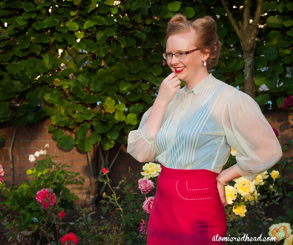 Vintage sheer blouse